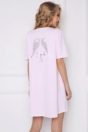 Dámska nočná košeľa Angel ružová