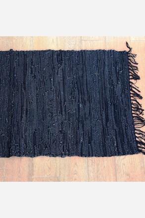 Koberček Home Design z kože čierny