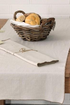 Behúň na stôl s ozdobným lemovaním Home Design béžový