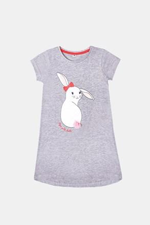 Dievčenská nočná košeľa Buny sivá