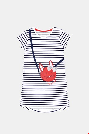 Dievčenská nočná košeľa Buny s prúžkami