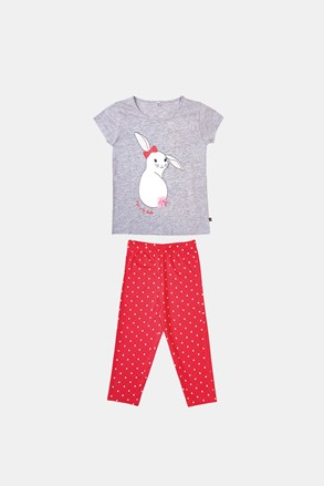 Dievčenské pyžamo Buny sivo-oranžové