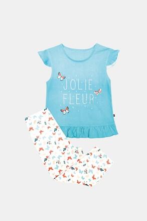 Dievčenské pyžamo Lila modré