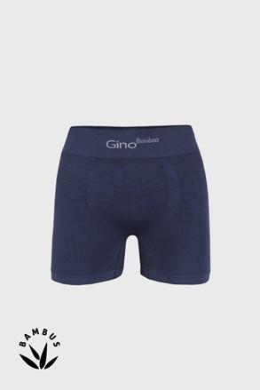 Modré bambusové boxerky s dlhšou nohavičkou