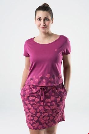 LOAP Asmen női ruha, sötét rózsaszínű