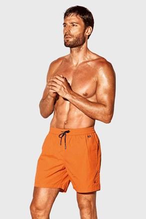 Oranžové kúpacie šortky David 52 Caicco