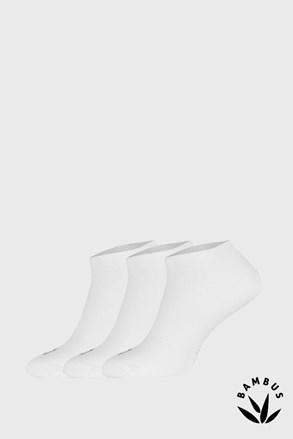 3 PÁR Desi bambusz szálas zokni, fehér
