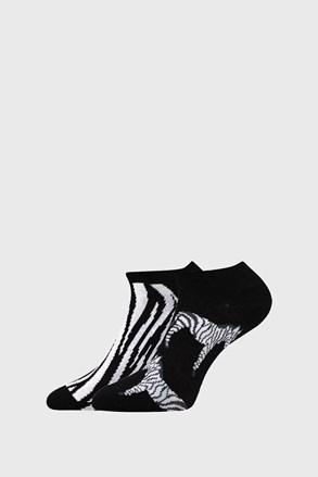 Zebra mintás női zokni, 2 pár