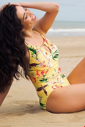 Dámske jednodielne plavky Yellow Exotic