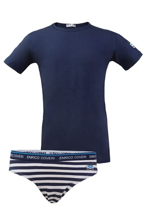 Chlapčenský komplet slipov a trička Enrico Coveri