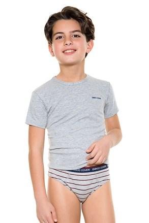 Komplet chlapčenských slipov a trička E. Coveri 4086