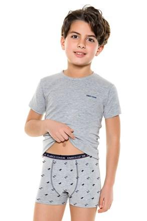 Komplet chlapčenských boxeriek a trička E. Coveri 4087