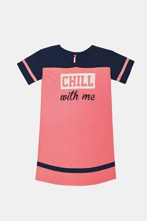 Crew lányka hálóing, rózsaszín