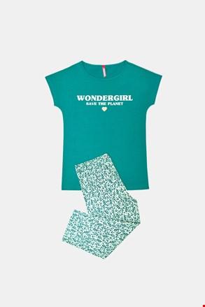 Dievčenské pyžamo Save planet zelené