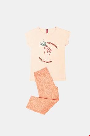 Dievčenské pyžamo Save planet oranžové