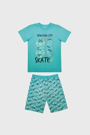 Chlapčenské pyžamo Skate svetlomodré