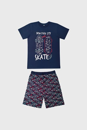 Chlapčenské pyžamo Skate tmavommodré