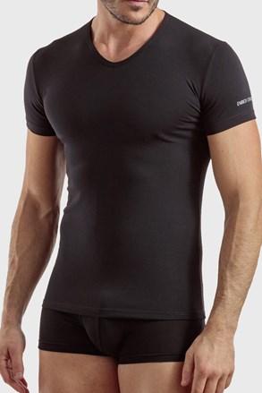 Pánske tričko V neck čierne