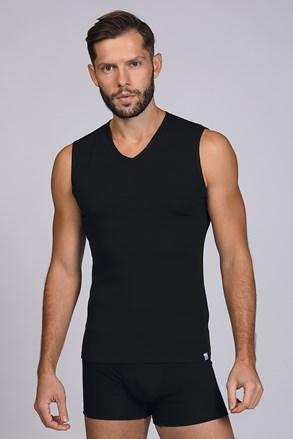 Čierne tričko bez rukávov