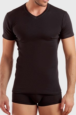 Pánske tričko čierne V neck