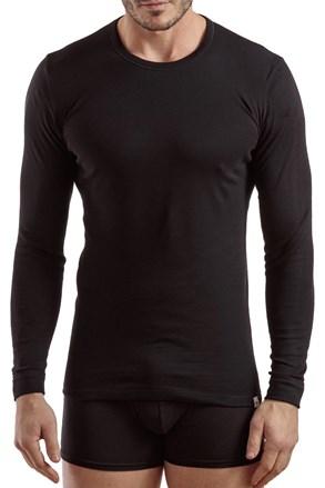 Pánske tričko s dlhým rukávom E.Coveri 1204 čierne