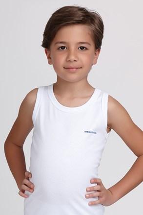 Chlapčenské bavlnené tielko E. Coveri biele