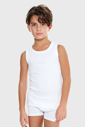 Chlapčenské tielko E. Coveri basic biele