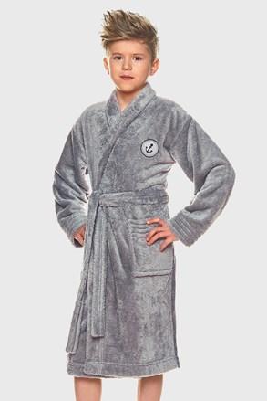 Chlapčenský župan Elegant sivý