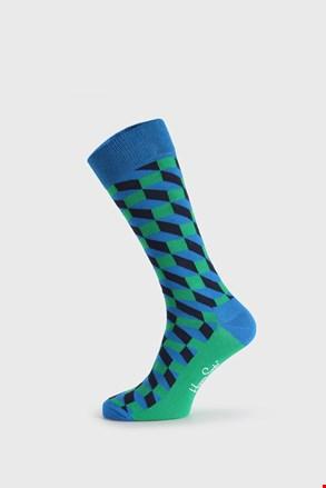 Happy Socks Filled Optic zöld-kék zokni