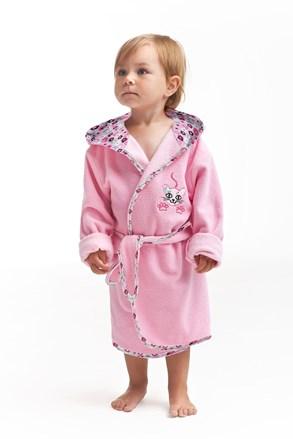 Detský župan Kitten ružový