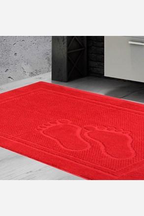Kúpeľňová predložka Feet červená