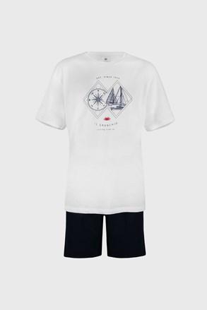 Biele pyžamo Sailing PLUS SIZE