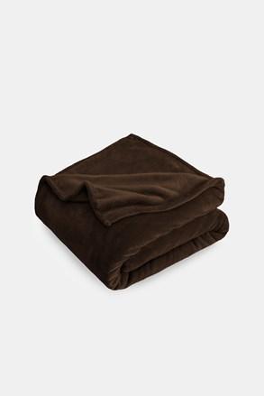 Mikroplyšová deka hnedá