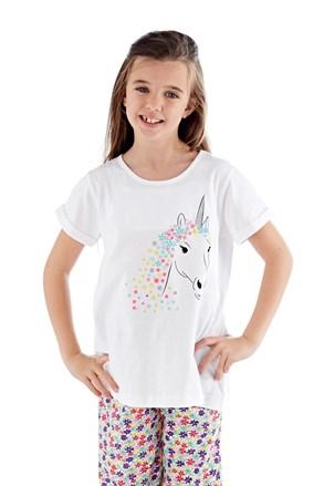Dievčenské pyžamo Polly dlhé biele