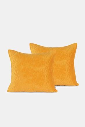 Súprava 2 ks obliečok na vankúšik žltá