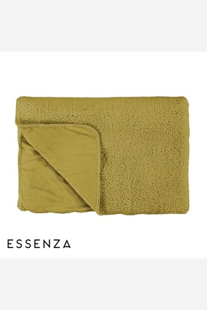 Prikrývka na posteľ Essenza Lammy žltá