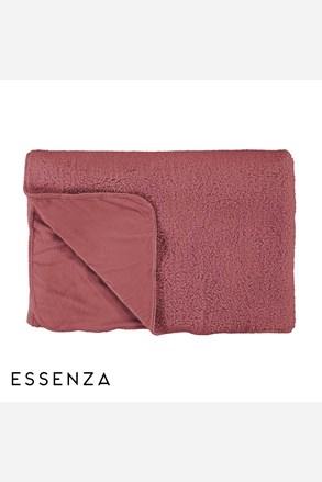 Prikrývka na posteľ Essenza Lammy ružová