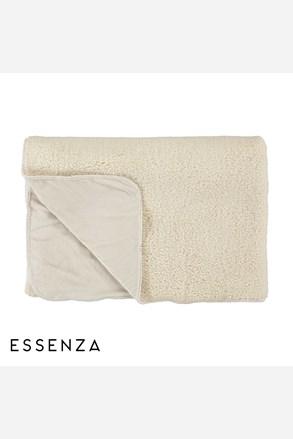 Prikrývka na posteľ Essenza Lammy biela