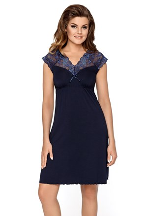 Dámska nočná košeľa Liliana tmavo modrá