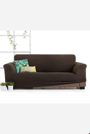 Milos háromszemélyes kanapéhuzat, barna