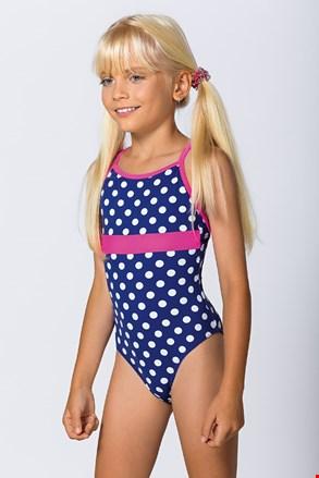 Dievčenské jednodielne plavky Dots