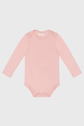 Detské dojčenské body s dlhým rukávom Baby ružové