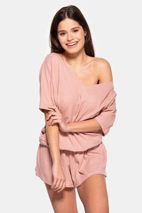 Dámske bavlnené pyžamo Rose krátke