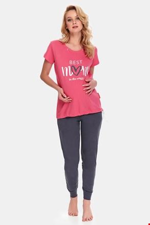 Materské dojčiace pyžamo Best Mom Rose