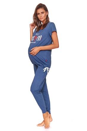 Best mom kismama szoptatós pizsama, kék