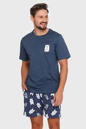Kék férfi pizsama Polar bear