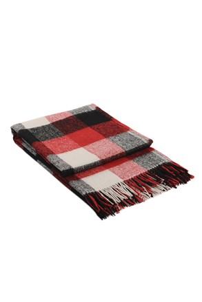 Vlnená deka Palermo červená