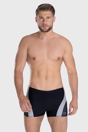 Čierno-sivé kúpacie boxerky Philip