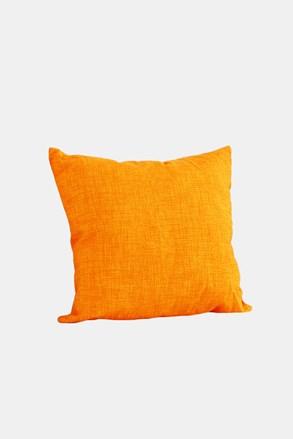 Dekoračný vankúš s výplňou oranžový