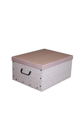 Skladacia úložná krabica Nordic ružová